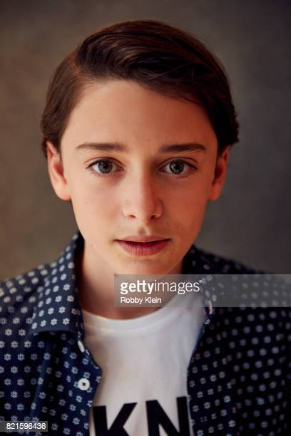 Actor Noah Schnapp from Netflix's 'Stranger Things' poses for a portrait during ComicCon 2017 at Hard Rock Hotel San Diego on July 22 2017 in San...