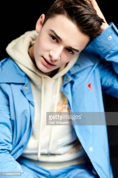 Actor Noah Schnapp is photographed at Netflix's Junket for 'Stranger Things' Season 3 at The London Hotel on June 27 2019 in West Hollywood California