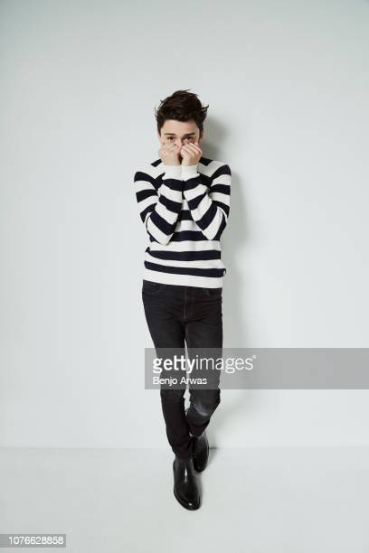 Actor Noah Schnapp is photographed for The Wrap on May 7 2018 in Los Angeles California
