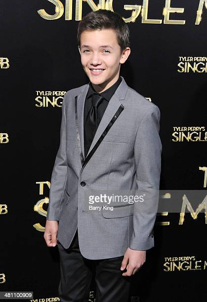 Actor Noah Urrea arrives at the Los Angeles premiere of 'Tyler Perry's The Single Moms Club' held on March 10 2014 at ArcLight Cinemas Cinerama Dome...