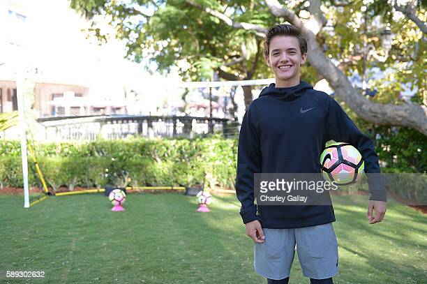 Actor Noah Urrea attends Nike Young Athletes Swoosh Saturday Featuring The Cast Of Amazon Original Series The Kicks at Nike The Grove to celebrate...