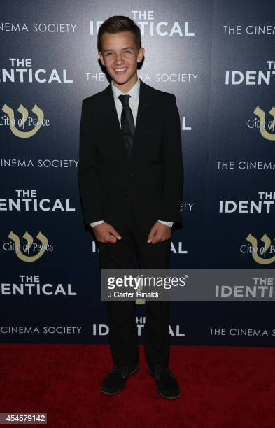 Actor Noah Urrea attends the world premiere of The Identical hosted by City Of Peace Films and The Cinema Society at SVA Theater on September 3 2014...