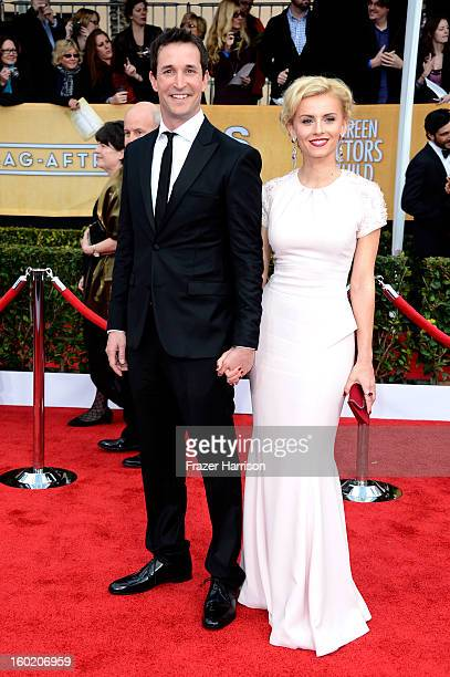 Actor Noah Wyle and guest arrive at the 19th Annual Screen Actors Guild Awards held at The Shrine Auditorium on January 27, 2013 in Los Angeles,...