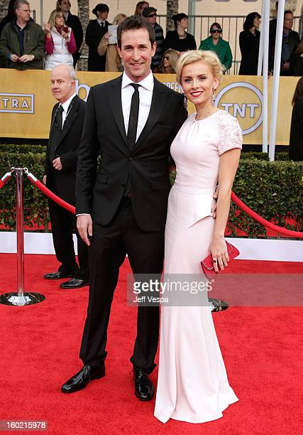 Actor Noah Wyle and guest arrive at the19th Annual Screen Actors Guild Awards held at The Shrine Auditorium on January 27, 2013 in Los Angeles,...