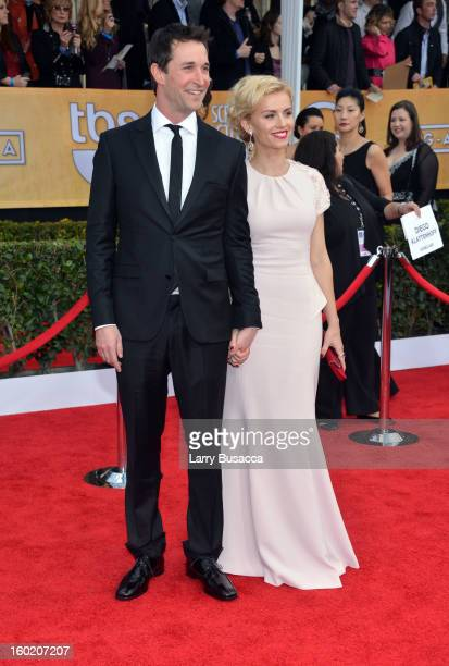 Actor Noah Wyle and guest attend the 19th Annual Screen Actors Guild Awards at The Shrine Auditorium on January 27, 2013 in Los Angeles, California....