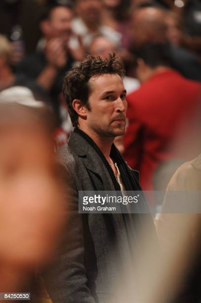 Actor Noah Wyle attends a game between the Miami Heat and the Los Angeles Lakers at Staples Center on January 11 2009 in Los Angeles California NOTE...