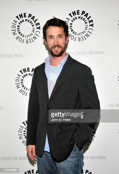 Actor Noah Wyle attends an evening with the cast of 'Falling Skies' presented by the Paley Center for Media at the Paley Center for Media on July 19...