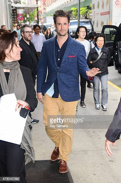 Actor Noah Wyle enters the Tao Lounge on May 13, 2015 in New York City.