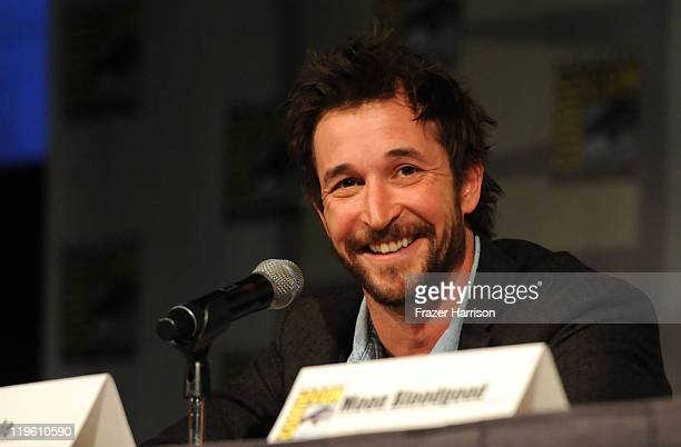 Actor Noah Wyle speaks at TNT's Falling Skies panel during Comic-Con 2011 at the Comic-Con Conference Center on July 22, 2011 in San Diego,...