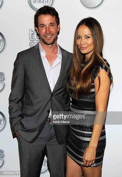 Actor Noah Wylie and actress Moon Bloodgood attend the TEN Upfront 2011 at Hammerstein Ballroom on May 18 2011 in New York City 21147_005_KM_0546jpg