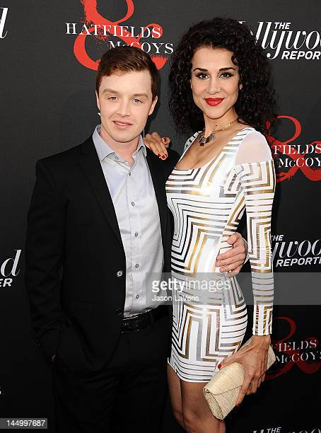 Actor Noel Fisher and actress Layla Alizada attend the premiere of Hatfields McCoys at Milk Studios on May 21 2012 in Los Angeles California