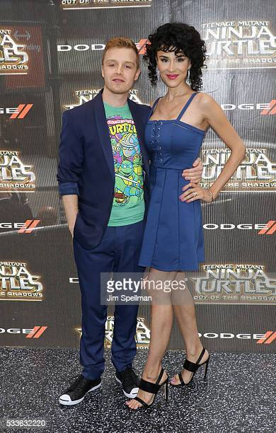 Actor Noel Fisher and Layla Alizada attend the Teenage Mutant Ninja Turtles Out Of The Shadows world premiere at Madison Square Garden on May 22 2016...