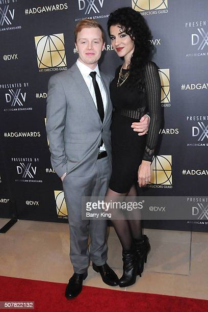 Actor Noel Fisher and Layla Alizada attends Art Directors Guild 20th Annual Excellence in Production Awards at The Beverly Hilton Hotel on January 31...