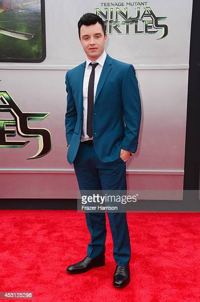 Actor Noel Fisher attends Paramount Pictures' 'Teenage Mutant Ninja Turtles' premiere at Regency Village Theatre on August 3 2014 in Westwood...