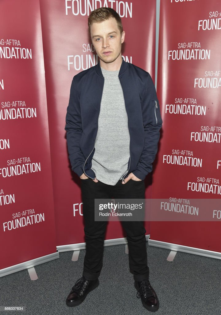 Actor Noel Fisher poses for portrait at SAG-AFTRA Foundation Conversations screening of 'The Long Road Home' at SAG-AFTRA Foundation Screening Room on October 30, 2017 in Los Angeles, California.