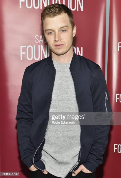 Actor Noel Fisher poses for portrait at SAGAFTRA Foundation Conversations screening of 'The Long Road Home' at SAGAFTRA Foundation Screening Room on...