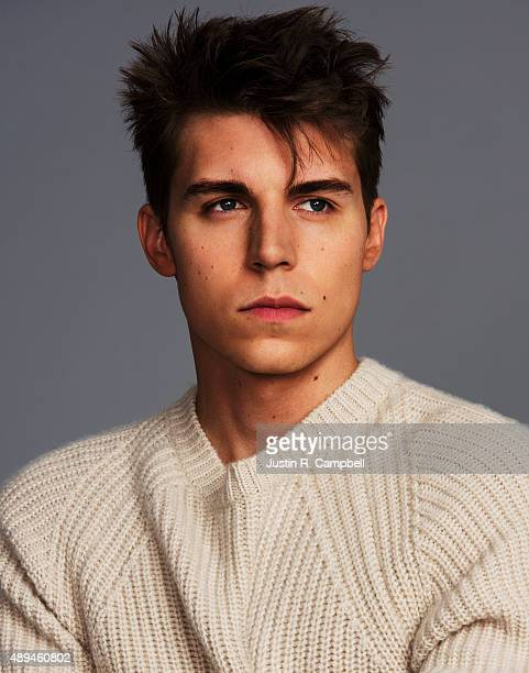 Actor Nolan Funk is photographed for Just Jared on August 31 2015 in Los Angeles California