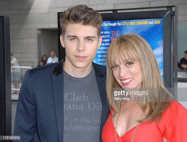 Actor Nolan Gerard Funk and actress Jennifer Copping arrive at the 2013 Los Angeles Film Festival 'The Way Way Back' closing night gala held at Regal...