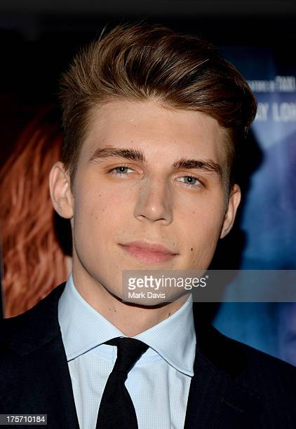 Actor Nolan Gerard Funk arrives at the premiere of IFC Film's The Canyons at The Standard Hotel on August 6 2013 in Los Angeles California