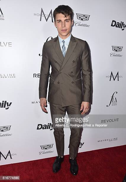 Actor Nolan Gerard Funk attends the Daily Front Row 'Fashion Los Angeles Awards' at Sunset Tower Hotel on March 20 2016 in West Hollywood California