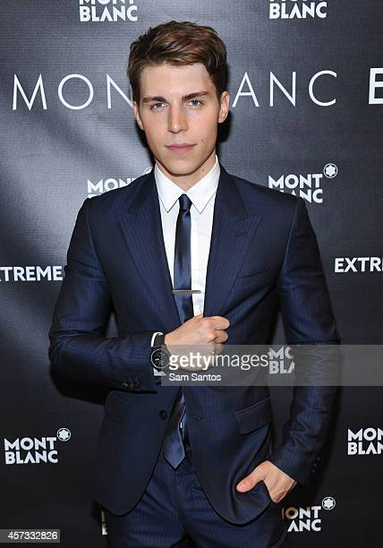Actor Nolan Gerard Funk attends the Montblanc celebration grand opening of Yorkdale boutique at Yorkdale shopping center on October 16 2014 in...