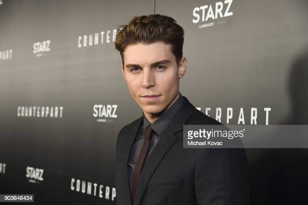 Actor Nolan Gerard Funk attends the premiere of STARZ's 'Counterpart' at Director's Guild of America on January 10 2018 in Los Angeles California