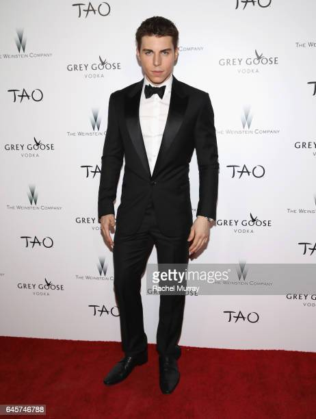 Actor Nolan Gerard Funk attends The Weinstein Company's Academy Awards viewing and after party in partnership with Grey Goose at TAO Los Angeles on...