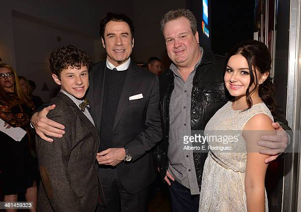 Actor Nolan Gould Actor/ Qantas Ambassador John Travolta actors Eric Stonestreet and Ariel Winter attend the Qantas Spirit Of Australia Party on...