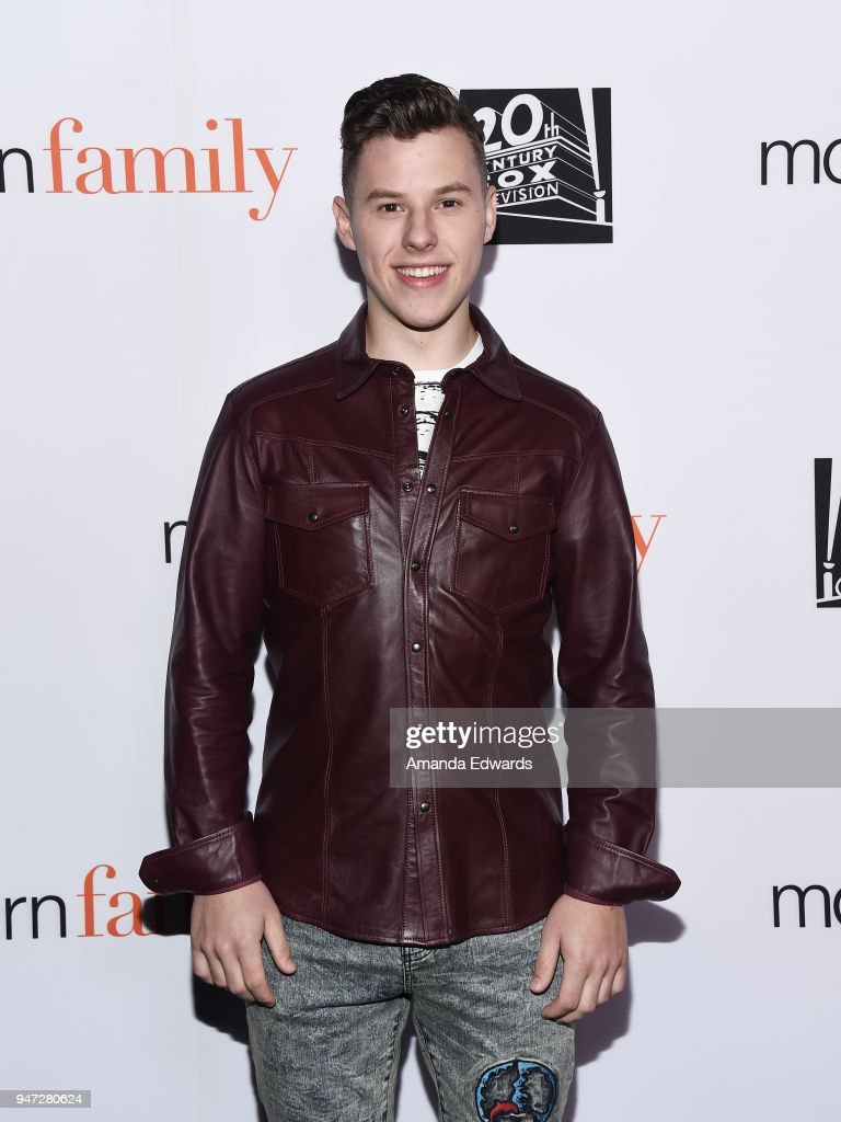 Actor Nolan Gould arrives at the FYC Event for ABC's 'Modern Family' at Avalon on April 16, 2018 in Hollywood, California.