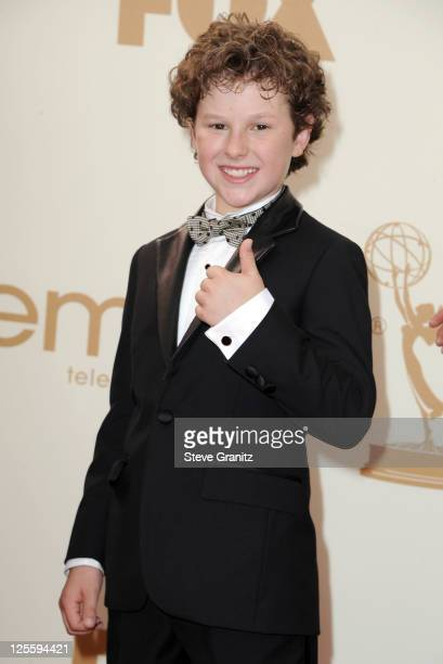 Actor Nolan Gould arrives to the 63rd Primetime Emmy Awards at the Nokia Theatre LA Live on September 18 2011 in Los Angeles United States