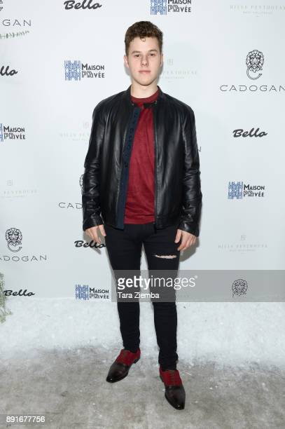 Actor Nolan Gould attends Bello Magazine's December Issue Launch Party with 'Modern Family' at Hills Penthouse on December 12 2017 in West Hollywood...