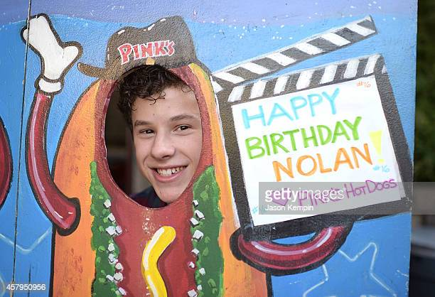 Actor Nolan Gould attends his 16th birthday party held at Smogshoppe on October 26, 2014 in Los Angeles, California.