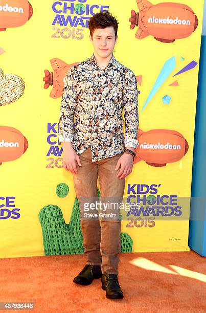 Actor Nolan Gould attends Nickelodeon's 28th Annual Kids' Choice Awards held at The Forum on March 28 2015 in Inglewood California