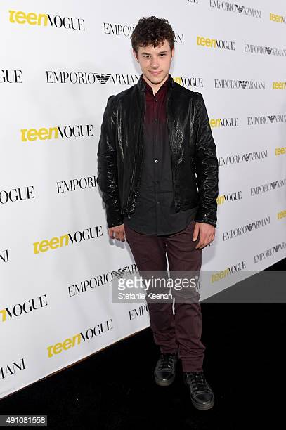Actor Nolan Gould attends Teen Vogue Celebrates the 13th Annual Young Hollywood Issue with Emporio Armani on October 2 2015 in Beverly Hills...
