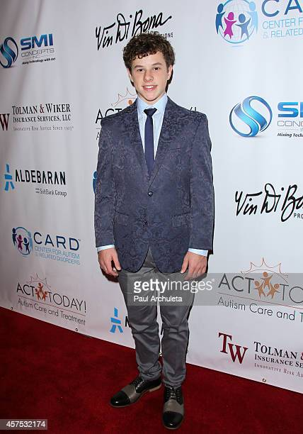 Actor Nolan Gould attends the 9th annual Denim Diamonds for Autism on October 19 2014 in Westlake Village California