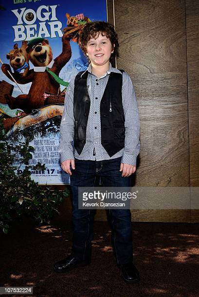 Actor Nolan Gould attends the premiere of Warner Bros 'Yogi Bear 3D' at the Mann Village Theatre on December 11 2010 in Westwood California