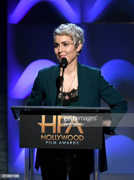 Actor Noomi Rapace speaks onstage during the 21st Annual Hollywood Film Awards at The Beverly Hilton Hotel on November 5 2017 in Beverly Hills...