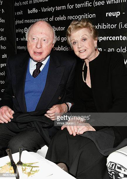 Actor Norman Lloyd and actress Angela Lansbury during Variety's Centennial Gala Presented by Target at The Historic Beverly Hills Post Office on...
