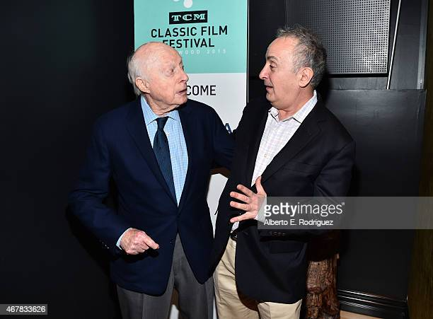 Actor Norman Lloyd and Repertory Programming Director of New York's Film Forum Bruce Goldstein attend the screening of 'Reign of Terror' during day...