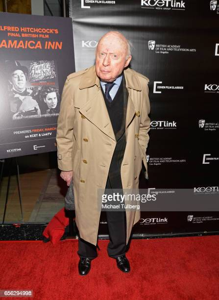 Actor Norman Lloyd attends a screening event for Alfred Hitchcock's 'Jamaica Inn' hosted by KCETLink Cohen Media Group and BAFTA LA at SilverScreen...