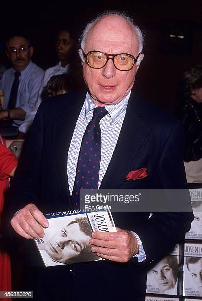 Actor Norman Lloyd attends Joseph Cotton autographs copies of his new book 'Vanity Will Get You Somewhere An Autobiography' on May 7 1987 at Hunter's...