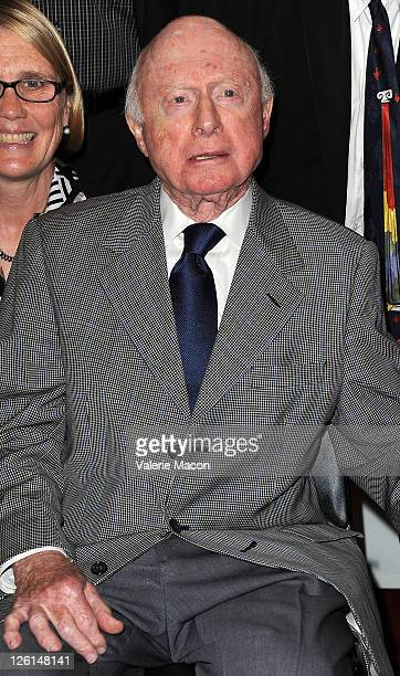 Actor Norman Lloyd attends The Academy Of Motion Pictures Arts And Sciences' Screening Of 'The White Shadow' on September 22 2011 in Beverly Hills...