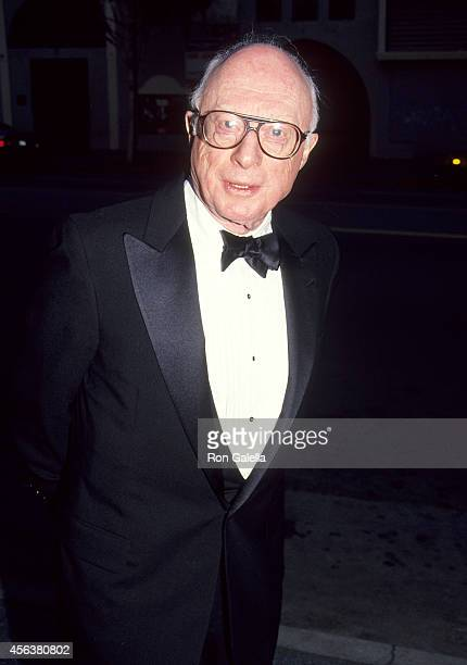 Actor Norman Lloyd attends the Center Theatre Group/Ahmanson Theatre's Opening Night Production of the Musical 'A Little Night Music' on April 18...