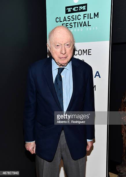 Actor Norman Lloyd attends the screening of 'Reign of Terror' during day two of the 2015 TCM Classic Film Festival on March 27 2015 in Los Angeles...