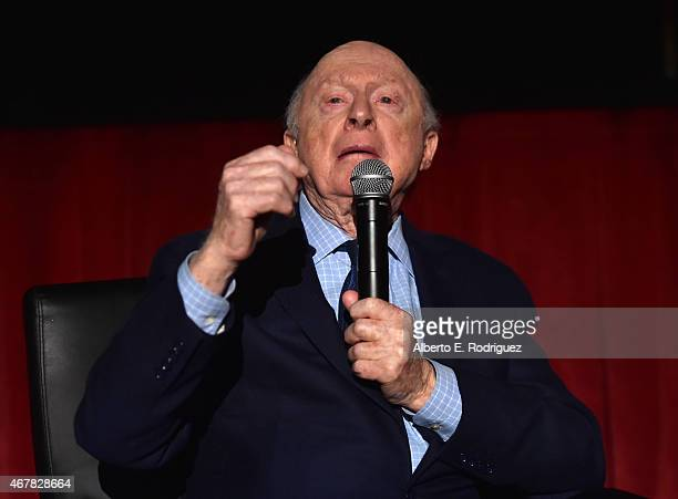 Actor Norman Lloyd speaks onstage before the screening of 'Reign of Terror' during day two of the 2015 TCM Classic Film Festival on March 27 2015 in...