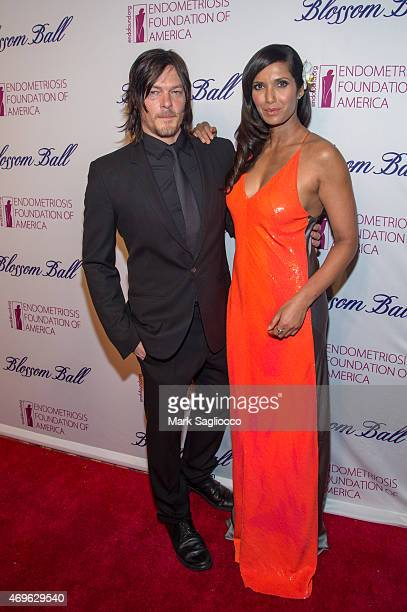 Actor Norman Reedus and TV Host Padma Lakshmi attend the Endometriosis Foundation of America's 7th Annual Blossom Ball at Cipriani Downtown on April...