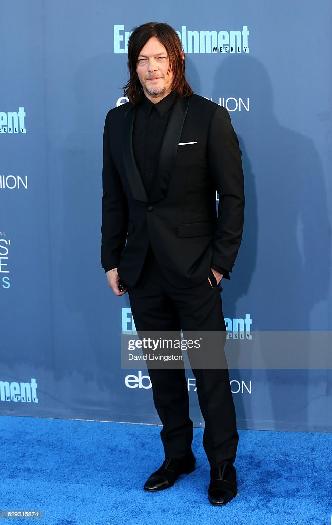 Actor Norman Reedus attends the 22nd Annual Critics' Choice Awards at Barker Hangar on December 11, 2016 in Santa Monica, California.