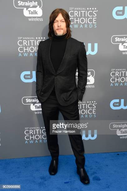 Actor Norman Reedus attends The 23rd Annual Critics' Choice Awards at Barker Hangar on January 11 2018 in Santa Monica California