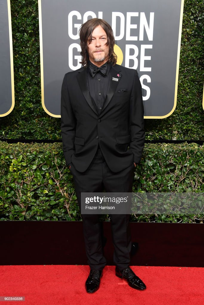 Actor Norman Reedus attends The 75th Annual Golden Globe Awards at The Beverly Hilton Hotel on January 7, 2018 in Beverly Hills, California.