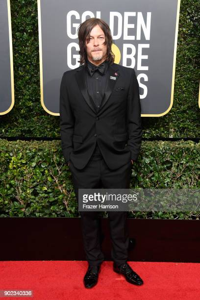 Actor Norman Reedus attends The 75th Annual Golden Globe Awards at The Beverly Hilton Hotel on January 7 2018 in Beverly Hills California